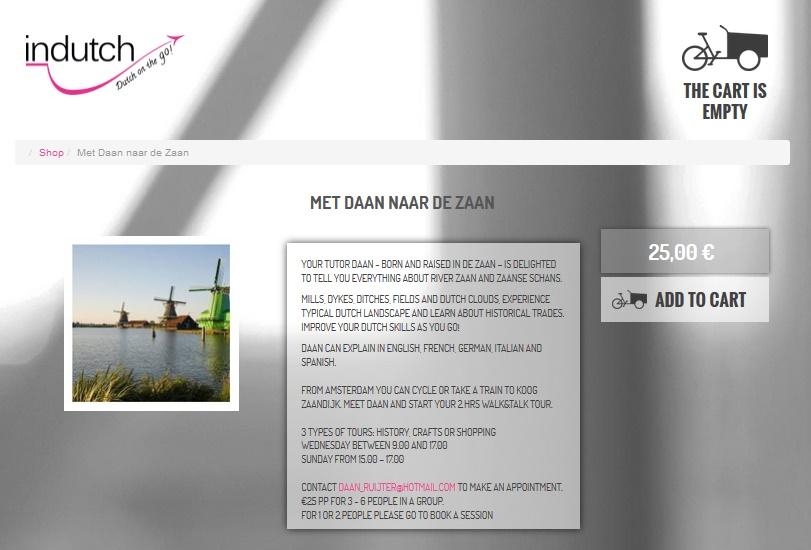 Daan Ruijter neemt expats, studenten, toeristen en immigranten mee naar de Zaanse Schans voor een sessie Nederlands